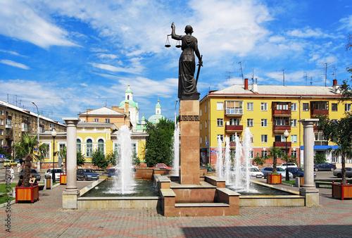Fototapeta Fountain Themis in Krasnoyarsk, Russia obraz