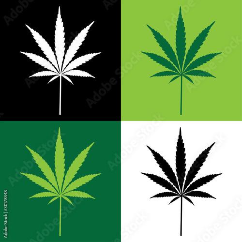 four cannabis leaf illustration - 30178348