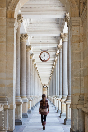 Fototapety, obrazy: Colonnade in Karlovy Vary, Czech Republic