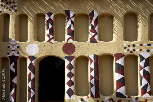 Urban detail of the traditional architecture in Mali #30217378