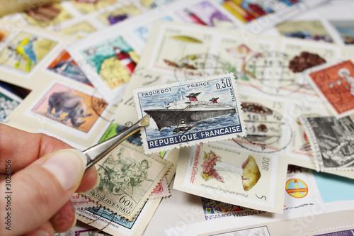 Fotografiet briefmarkensammlung