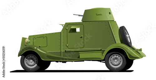 Poster Militaire vintage armored car