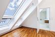Leinwandbild Motiv Contemporary sunlit apartment with modern bathroom