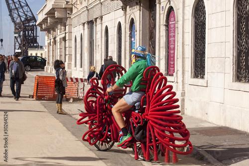Fotografía  Strano ciclista