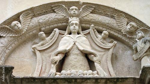 Lunetta con statua di Madonna in una strada di Galatina (Lecce) Canvas-taulu