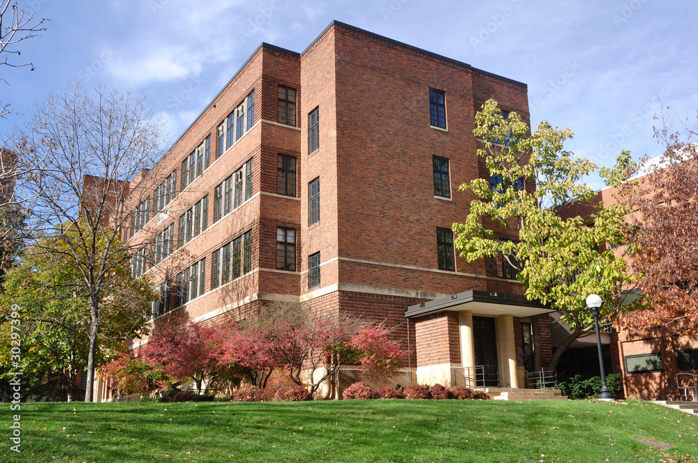 Fototapeta Brick Building on University Campus