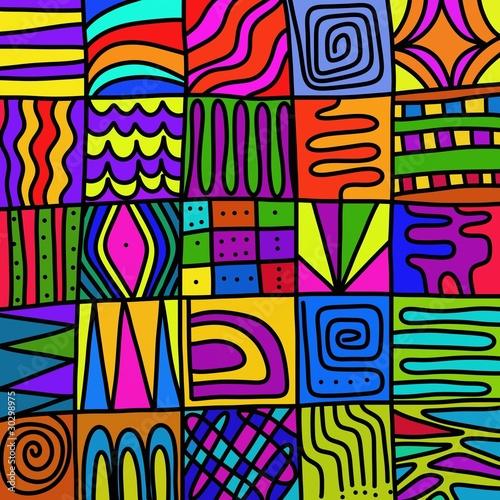 Fotobehang Klassieke abstractie astratto colorato