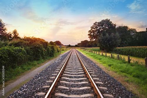 Poster Railroad railway tracks