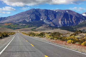 American road  through the scenic desert