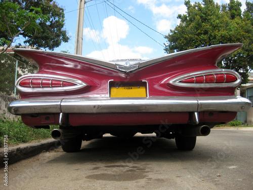Türaufkleber Autos aus Kuba red nice car