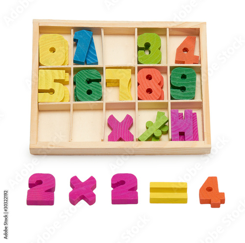 Wooden numbers #30322192