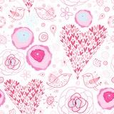 texture pink hearts