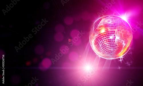 Fotografiet abstract representation of disco ball