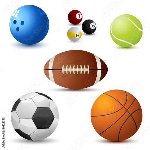 In de dag Bol Set of Sports Ball