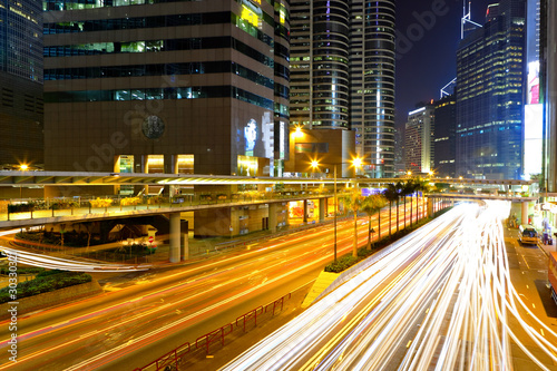 Fototapety, obrazy: traffic in city at night