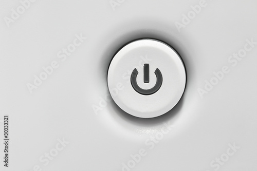 Poster Macarons Power button white