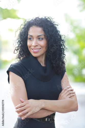 Fotografie, Obraz  Woman with arms crossed