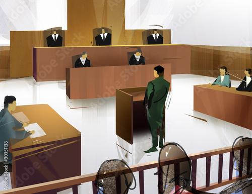 Foto  法廷