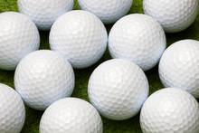 Close Up Of Golf Balls