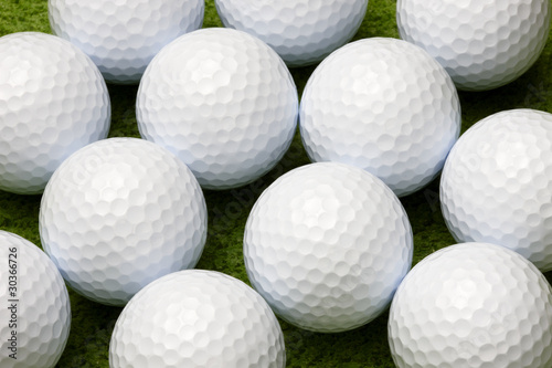Fotografia, Obraz Close up of golf balls