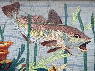Panel SzklanyMosaïque (poisson)