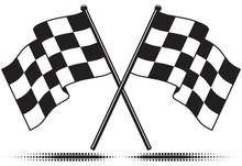 Vector Checkered Flags - Reach...