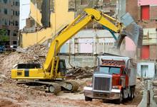 Front End Loader Scrap Materials Dump Truck