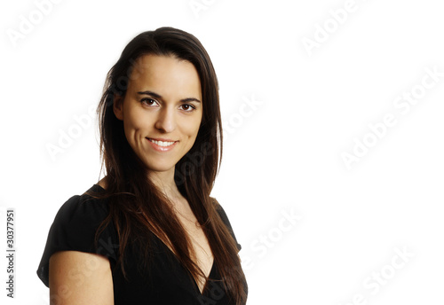 young smiling brunette Canvas-taulu