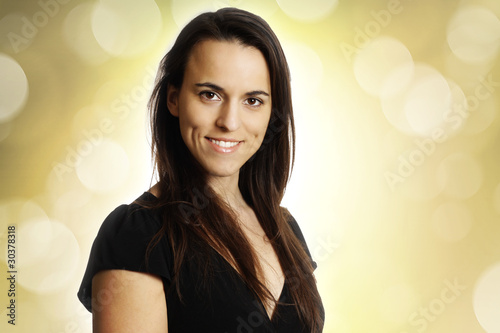 young smiling brunette Tablou Canvas