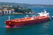 canvas print picture - Oil tanker entering Sydney Harbour