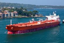 Oil Tanker Entering Sydney Harbour