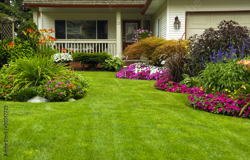 Recess Fitting Garden Manicured Spring Summer Residential yard