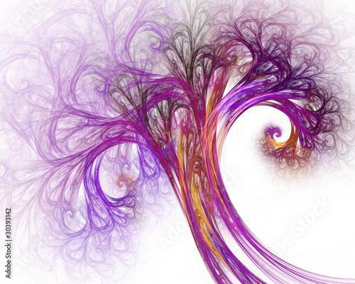 abstrakcjonistyczny-fractal-drzewo-na-bialym-tle