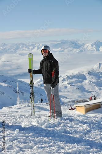 Papiers peints Nautique motorise skiing on on now at winter season