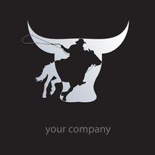 Logo Cowboy On Black Background # Vector