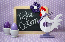 Frohe Ostern (lila)