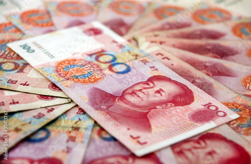 Tuinposter China Chinese currency
