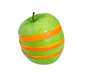 Apfel- und Orangenscheiben zu einem Apfel montiert