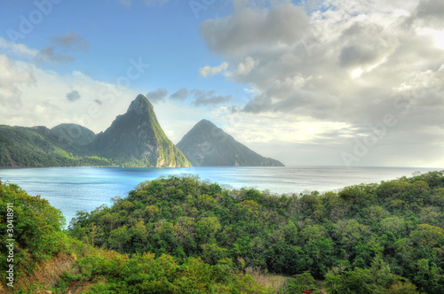 Poster Caribbean Pitons - St. Lucia / Saint Lucia (Carribean)