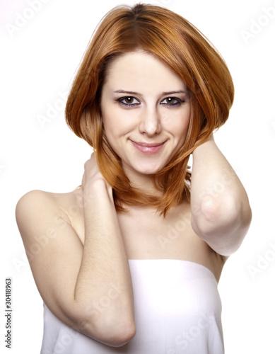 Beautiful girl in white.