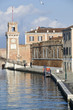 Arsenale canal and waterfront in Venice, Italy