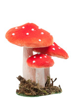 Red Dotted Decoration Mushroom...