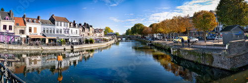 Printed kitchen splashbacks City on the water Amiens centre ville HDR