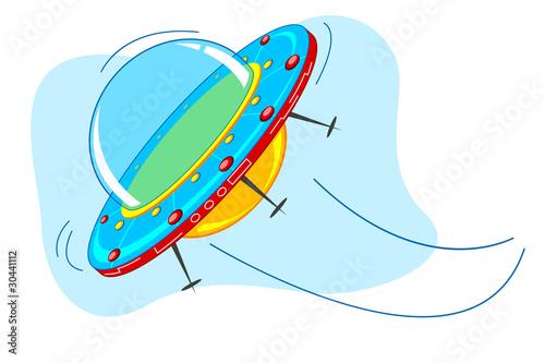 Garden Poster Cosmos Space Ship