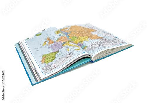 Cuadros en Lienzo World Atlas