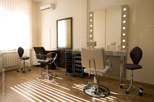 Fotografie, Obraz  Modern salon make-up artist and hairdresser