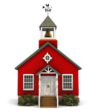 Red Schoolhouse Facade