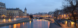 Fototapeta Fototapety Paryż - Paris - view from Pont Neuf bridge at night