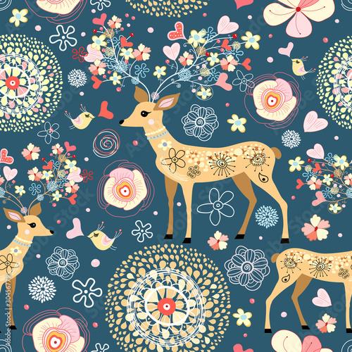 Tapety do pokoju dziewczynki  texture-is-fabulous-flower-deer
