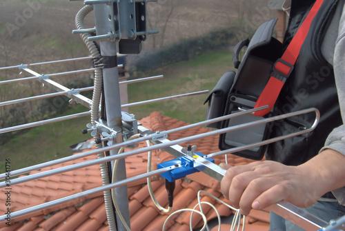 Terrestrische Antenne Fototapete